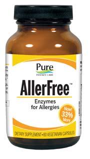 allerfree alergy relief natural remedy supplement enzymes