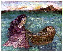 Lady with Cradle Boat
