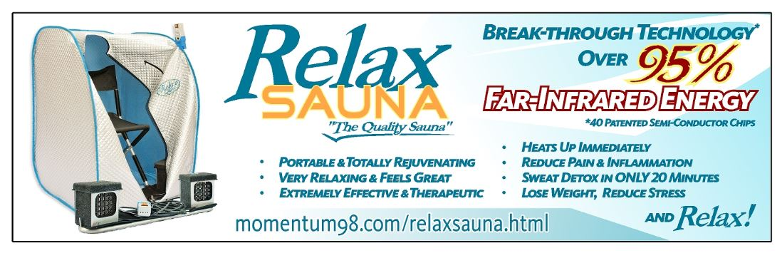relax far infrared sauna banner