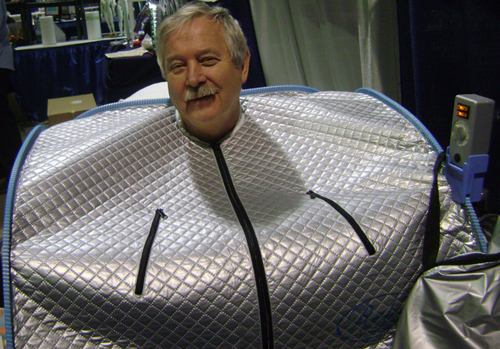 relax                     sauna user at show